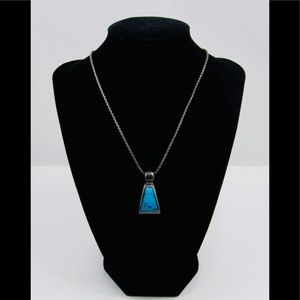 Jewelry - 925 Sterling Silver & Turquoise Pendant Necklace